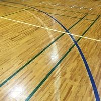 県立高校の体育館ワックス清掃のサムネイル